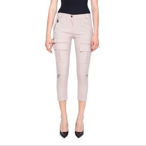 NWOT Carven Midrise Cargo Trousers in Beige US 10